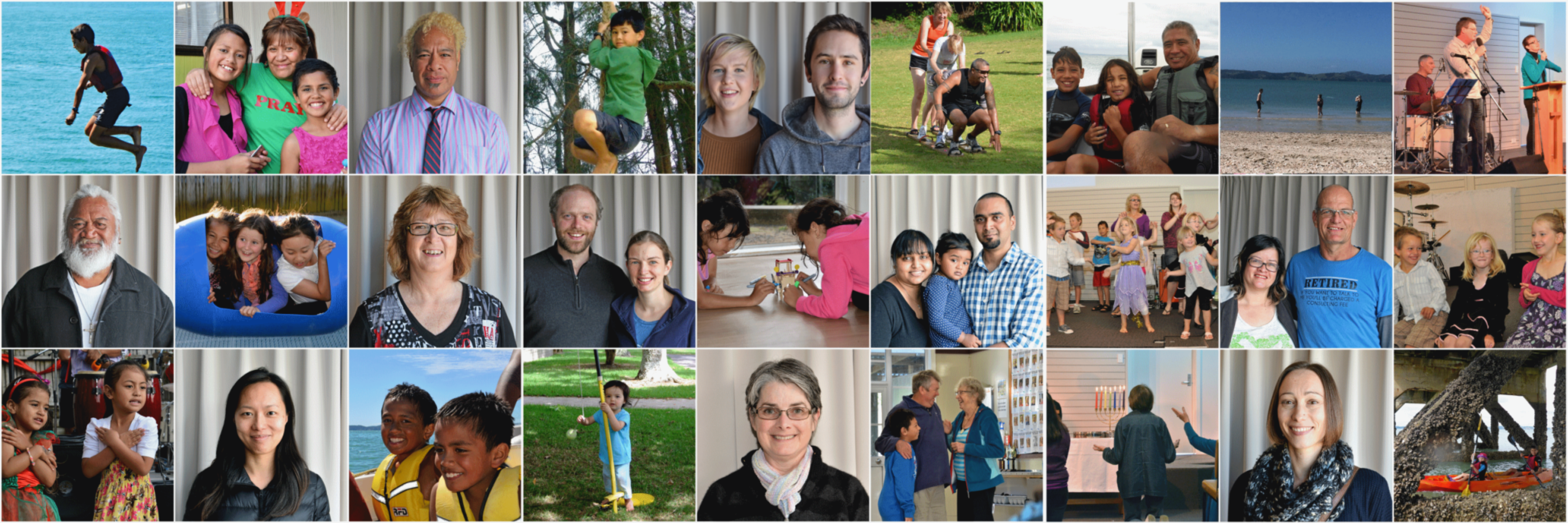 collage of photos of members of Connect Baptist Church